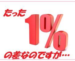 たった1%の差