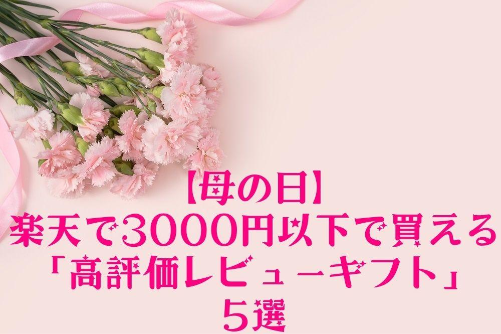 【母の日】楽天で3,000円以下で買える「高評価レビューギフト」5選