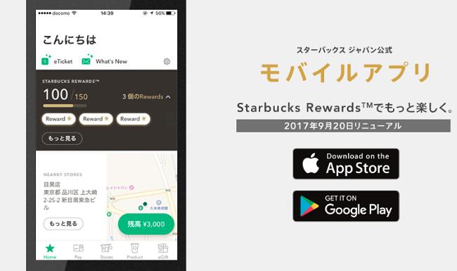 スターバックスアプリ